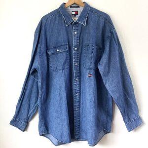 Tommy Jeans 90's Men's Chambray Denim Shirt XL